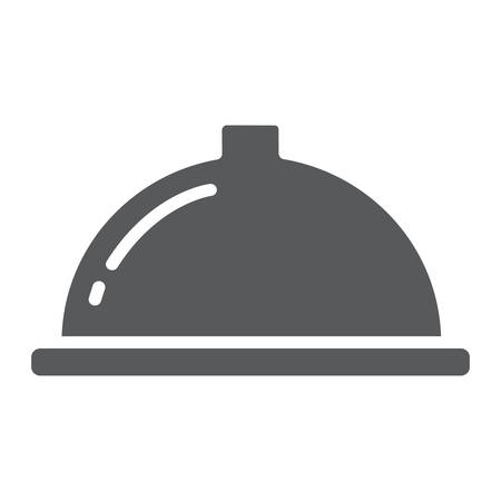Serving tray glyph icon, food and restaurant, dish sign, vector graphics, a solid pattern on a white background.