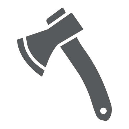Axe glyph icon, tool and tomahawk, ax sign, vector graphics, a solid pattern on a white background.