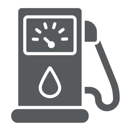 Petrol glyph icon, fuel and gasoline, gas pump sign, vector graphics, a solid pattern on a white background.