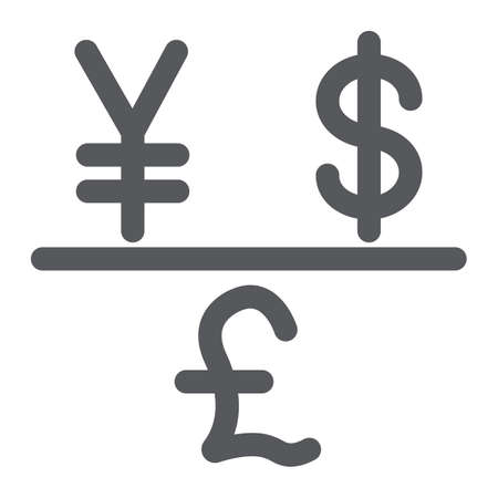 Currency glyph icon, financial and bank, money sign, vector graphics, a solid pattern on a white background. Vektoros illusztráció