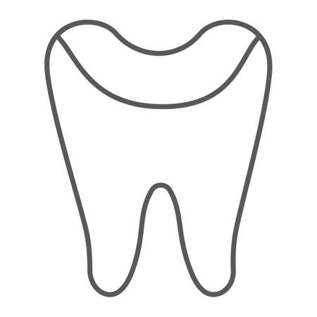 Tooth enamel thin line icon, dental and dentistry, tooth care sign, vector graphics, a linear pattern on a white background.