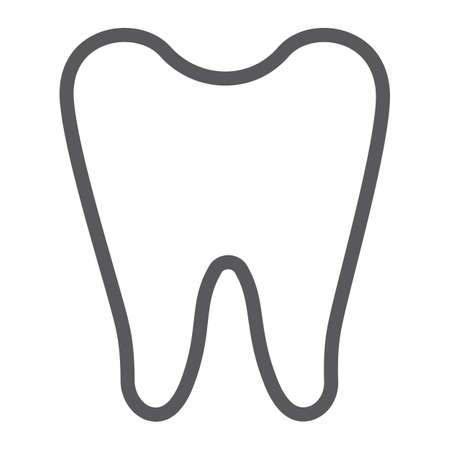 Tooth line icon, dentist and dental, teeth sign, vector graphics, a linear pattern on a white background.