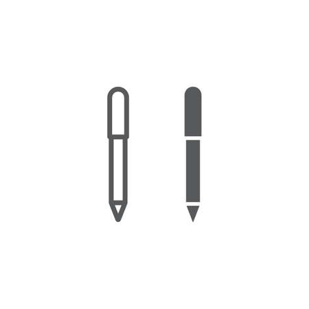 Eye pencil line and glyph icon, makeup and cosmetic, eyeliner sign, vector graphics, a linear pattern on a white background. Illustration