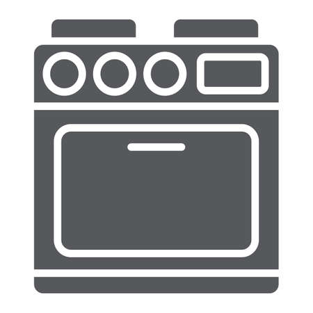 Oven glyph icon, appliance and cooking, cooker sign, vector graphics, a solid pattern on a white background.