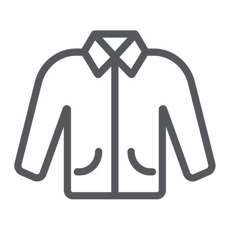 Jacket line icon, clothes and fashion, clothing sign, vector graphics, a linear pattern on a white background. Ilustração
