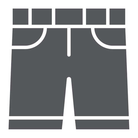 Shorts glyph icon, clothes and summer, pants sign, vector graphics, a solid pattern on a white background.