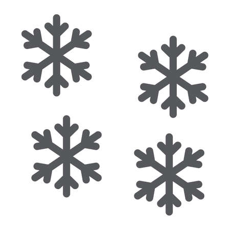 Snowflake line icon, winter and forecast, snow sign, vector graphics, a linear pattern on a white background.