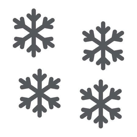 Snowflake glyph icon, winter and forecast, snow sign, vector graphics, a solid pattern on a white background.