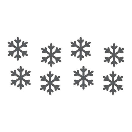 Snowflake line and glyph icon, winter and forecast, snow sign, vector graphics, a linear pattern on a white background. Ilustrace