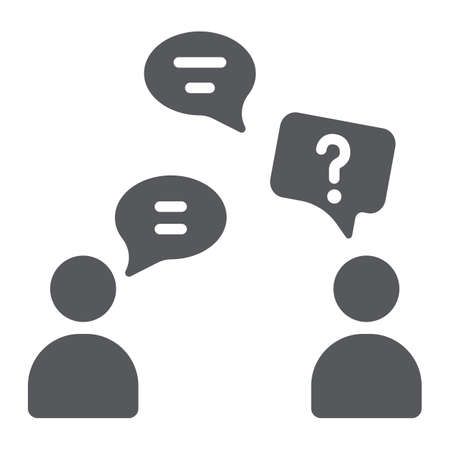 Speaking people glyph icon, chat and talking, conversation sign, vector graphics, a solid pattern on a white background.