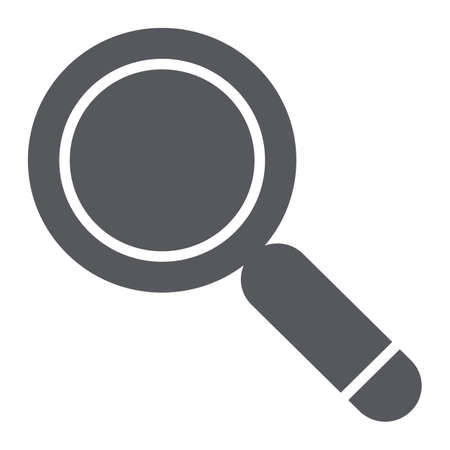 Search glyph icon, lens and find, magnifying glass sign, vector graphics, a solid pattern on a white background. Illustration