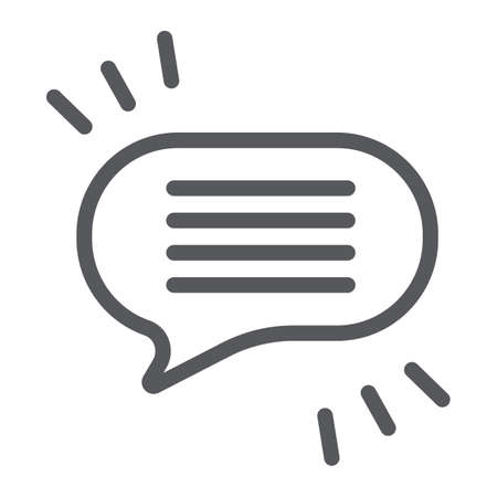 Comment line icon, chat and dialog, speech bubble sign, vector graphics, a linear pattern on a white background. Иллюстрация