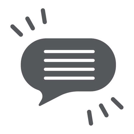 Comment glyph icon, chat and dialog, speech bubble sign, vector graphics, a solid pattern on a white background. Иллюстрация
