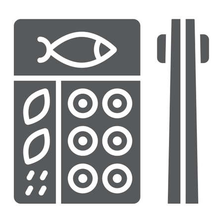 Bento glyph icon, asian and food, japanese lunch box sign, vector graphics, a solid pattern on a white background.