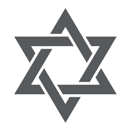 Star of David glyph icon, israel and jewish, hexagram sign, vector graphics, a solid pattern on a white background. Иллюстрация