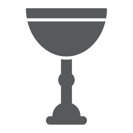 Jewish goblet glyph icon, cup and judaism, kiddush wine cup sign, vector graphics, a solid pattern on a white background. Illustration