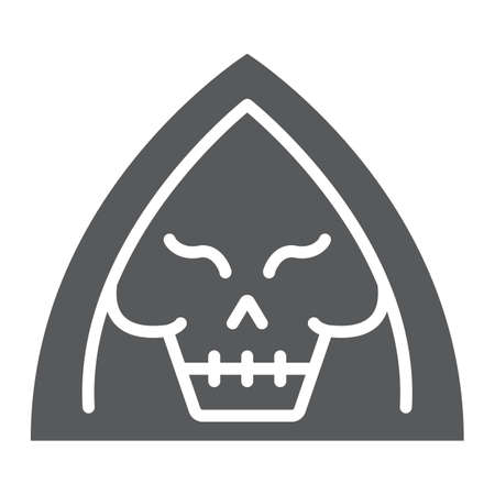 Death glyph icon, halloween and horror, reaper sign, vector graphics, a solid pattern on a white background.