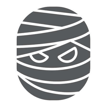 Mummy glyph icon, halloween and creepy, monster sign, vector graphics, a solid pattern on a white background.
