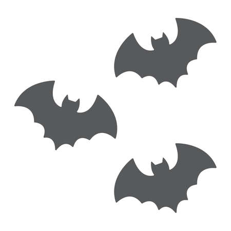 Bats glyph icon, spooky and animal, vampire sign, vector graphics, a solid pattern on a white background. 写真素材 - 128744938