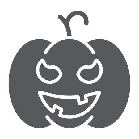 Pumpkin glyph icon, gourd and autumn, squash sign, vector graphics, a solid pattern on a white background.