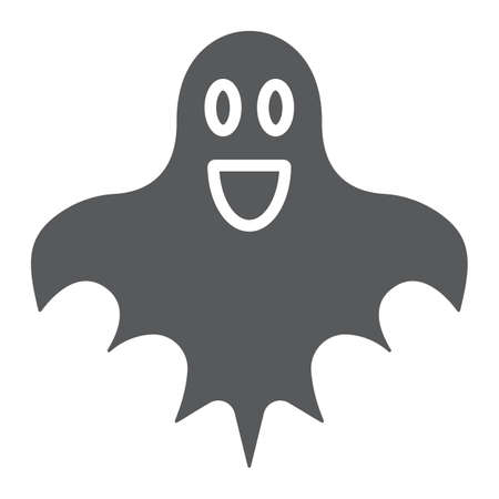 Ghost glyph icon, halloween and horror, spirit sign, vector graphics, a solid pattern on a white background.