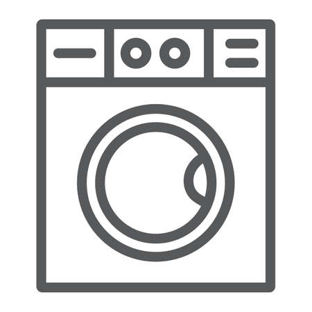 Washing machine line icon, laundry and housekeeping, washer sign, vector graphics, a linear pattern on a white background. Иллюстрация