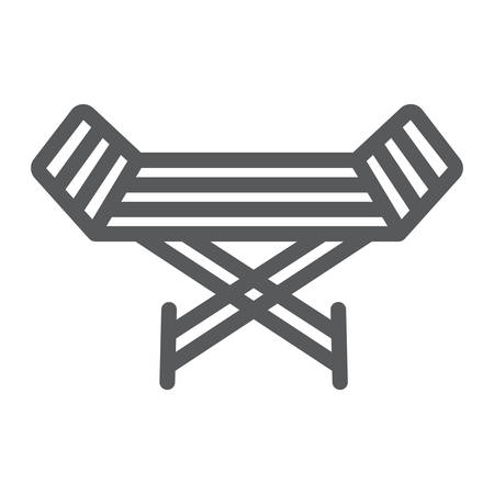 Metal clothes dryer line icon, laundry and housekeeping, rack dryer sign, vector graphics, a linear pattern on a white background. 스톡 콘텐츠 - 130157005