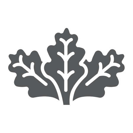 Lettuce glyph icon, vegetable and organic, salad sign, vector graphics, a solid pattern on a white background.