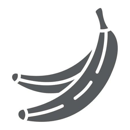 Banana glyph icon, fruits and vegetables, tropical fruit sign, vector graphics, a solid pattern on a white background.