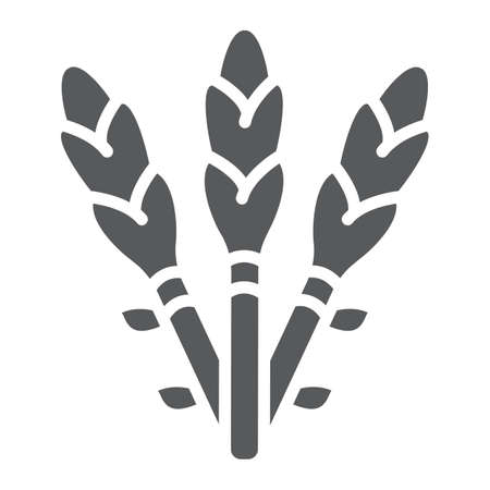 Asparagus glyph icon, vegetable and organic, vegetarian food sign, vector graphics, a solid pattern on a white background.