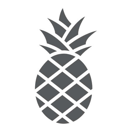 Pineapple glyph icon, fruit and food, tropical fruit sign, vector graphics, a solid pattern on a white background. Zdjęcie Seryjne - 131775140