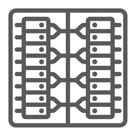 Server line icon, technology and system, data center sign, vector graphics, a linear pattern on a white background.