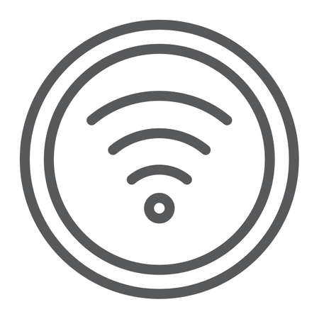 Wifi line icon, internet and network, wireless internet sign, vector graphics, a linear pattern on a white background.