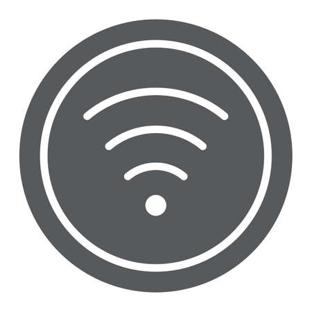 Wifi glyph icon, internet and network, wireless internet sign, vector graphics, a solid pattern on a white background.