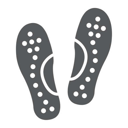 Orthopedic insoles glyph icon, orthopedic and medical, flat foot correct sign, vector graphics, a solid pattern on a white background.