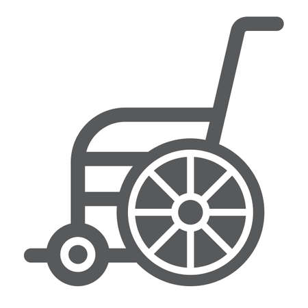 Wheelchair glyph icon, orthopedic and medical, disabled chair sign, vector graphics, a solid pattern on a white background. 일러스트