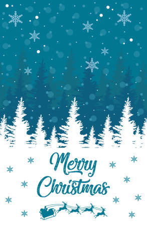 Merry Christmas vector poster, happy new year banner, christmas background, xmas party, vector illustration, eps 10 스톡 콘텐츠 - 132056986