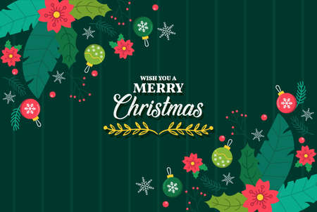 Merry Christmas vector poster, happy new year banner, christmas background, xmas party, vector illustration, eps 10 스톡 콘텐츠 - 133149959