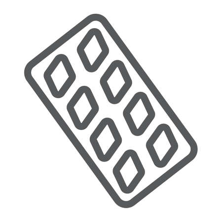 Erection pills line icon, health and pharmacy, drug sign, vector graphics, a linear pattern on a white background, eps 10.