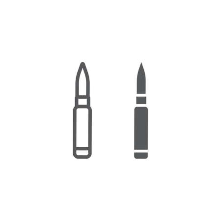 Rocket launcher line and glyph icon, army and military, rifle cartridge sign, vector graphics, a linear pattern on a white background, eps 10.