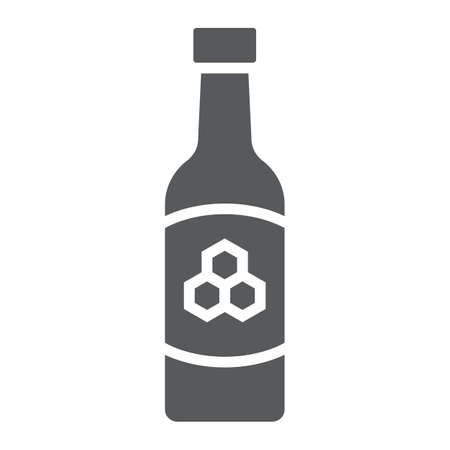Mead glyph icon, st patricks day and alcohol, honey sign, vector graphics, a solid pattern on a white background