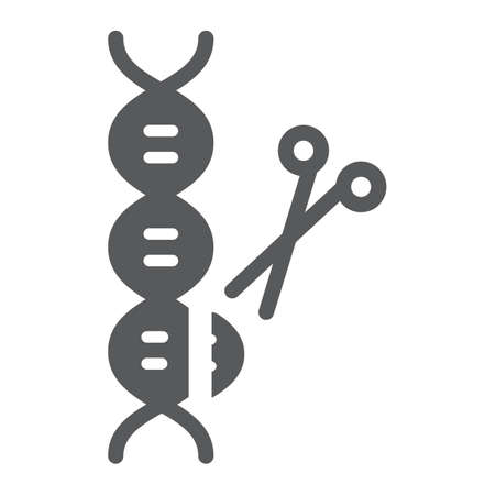 Genome editing glyph icon, technology and dna, dna editing sign, vector graphics, a solid pattern on a white background, eps 10.