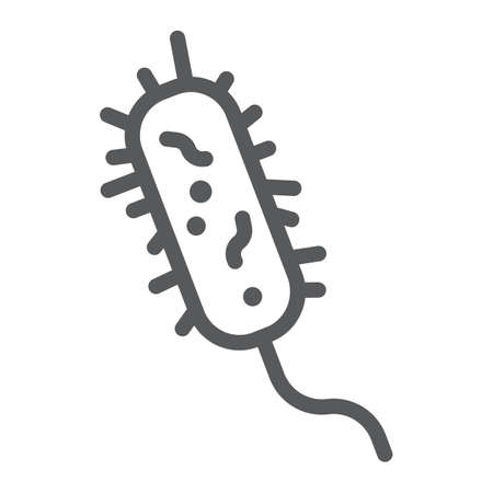 Bacteria line icon, virus and microorganism, microbe sign, vector graphics, a linear pattern on a white background. Vectores