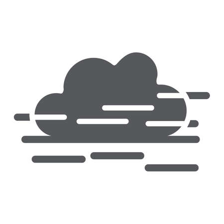 Fog glyph icon, weather and forecast, humidity sign, vector graphics, a solid pattern on a white background.