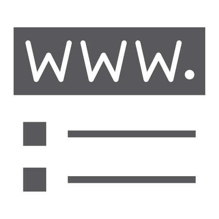 Domain registration glyph icon, website network