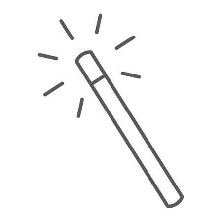 Magic wand thin line icon, tools and design