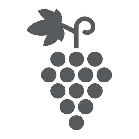 Grapes glyph icon, fruit and vitamin, vine sign Иллюстрация