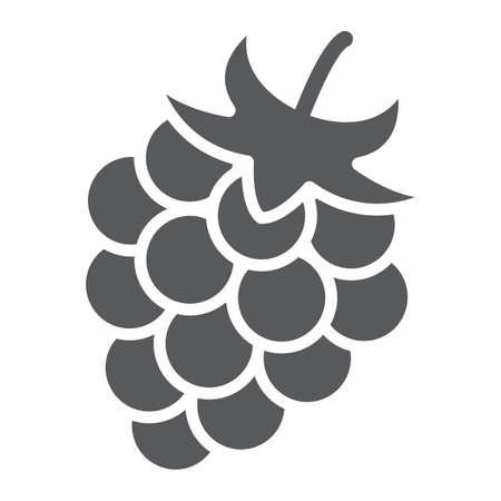 glyph icon, fruit and vitamin