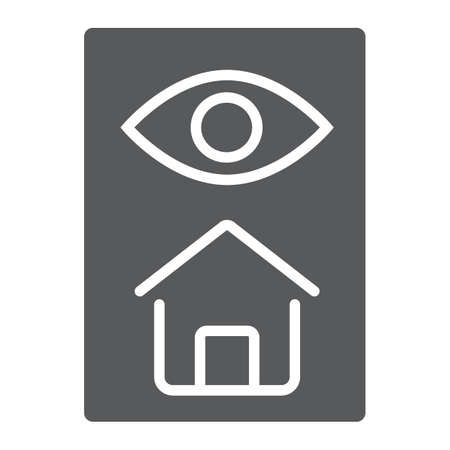 Home inspection glyph icon, real estate and home, inspect sign vector graphics, a solid pattern on a white background, eps 10.