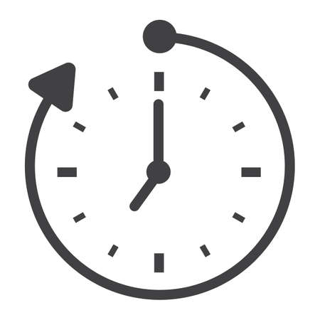 Overtime solid icon, business and clock, vector graphics, a glyph pattern on a white background, eps 10. Ilustrace